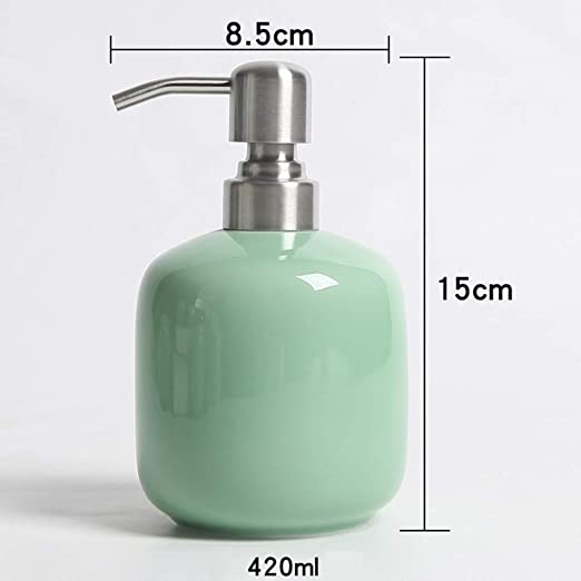 Sgxpjj Dispensador de jabón 420ML Encimeras de cerámica Montado ...