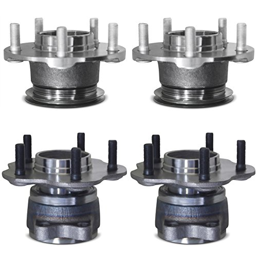 Tomegun 4 to 5 Lug Wheel Hubs Bearing Conversion Set of 4 (Front/Rear) For 95-99 Nissan 240SX S14 by Tomegun (Image #1)