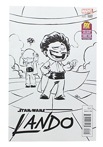 Star Wars Lando #1 (of 5) Comic Book Young Black & White Variant Cover SDCC ...