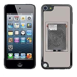 [Neutron-Star] Snap-on Series Teléfono Carcasa Funda Case Caso para Apple iPod Touch 5 [Ilusión del cartel del arte abstracto Scull]