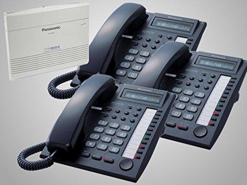 - Panasonic KX-TA824 Hybrid Phone System + 3 Panasonic KX-T7730 Black Phones & 1 Year Warranty