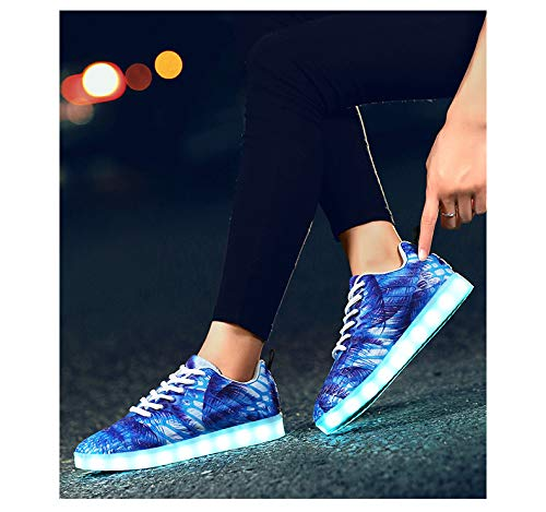 Tecniche Colori 7 Mesh Shoes Uomo bianco01 Led Light Casual Lovers Men Flash Sportive Outdoor Da Moda Women For Cool Skateboard Traspirante Blue And Scarpe Rpxnqdp4rZ