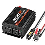 POTEK 500W Power Inverter/Car Inverter DC 12V to AC 110V Dual AC Charging Port and 2A USB Ports for Laptop, Smart Phone