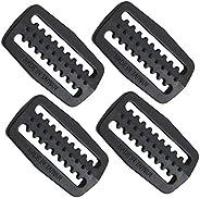 Scuba Choice Scuba Diving Plastic Weight Belt Webbing Keeper Retainer (4-Piece) Pack Set, Black