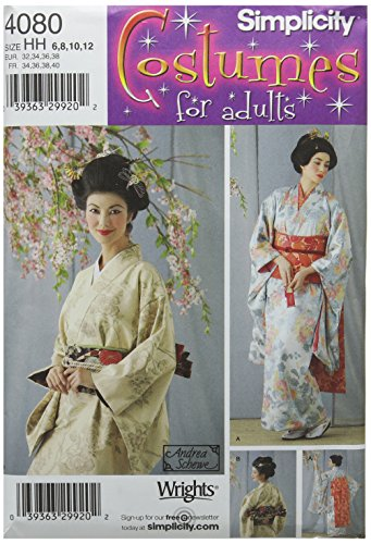 Simplicity Women's Japanese Geisha Costume Sewing Pattern, Sizes 6-12