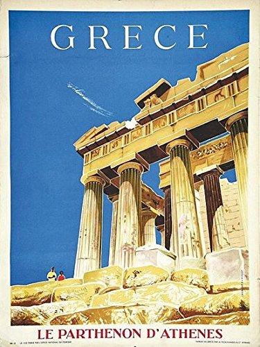 Vintage Greece Tourism Piraeus Athens Poster A3 Print