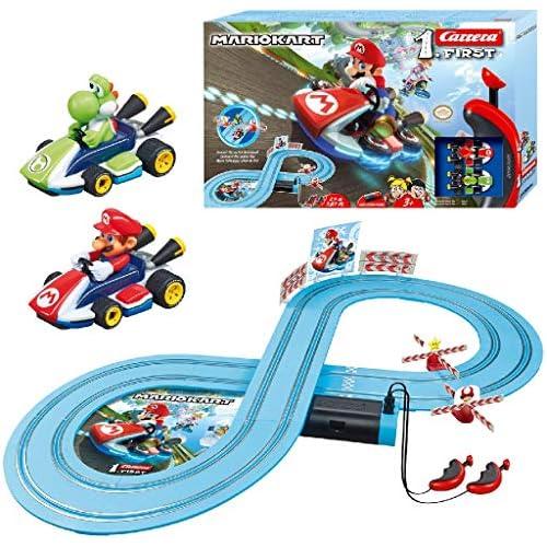 chollos oferta descuentos barato Carrera 1 First Circuito de Coches de Miniatura Nintendo Mario Kart de 2 4 m Escala 1 50 Multicolor 20063026