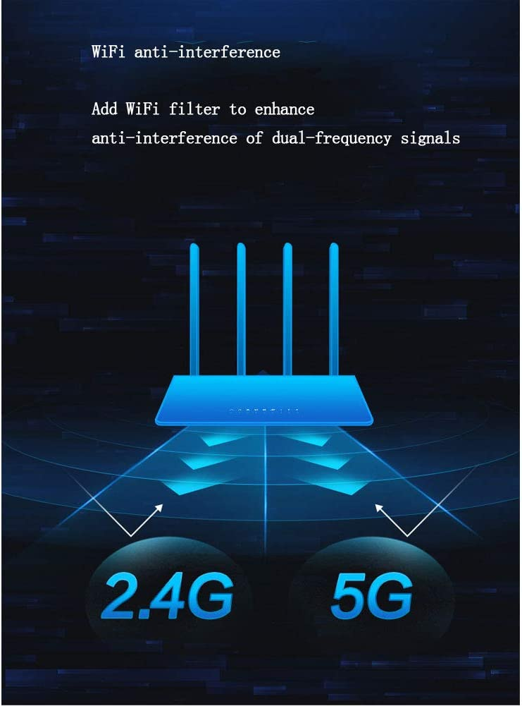 Gamers Private Network PXYUAN Dual Band Gigabit Smart Wi-Fi Router Game Radar for Server Connection Power-Saving Support 3 Level Game Boost