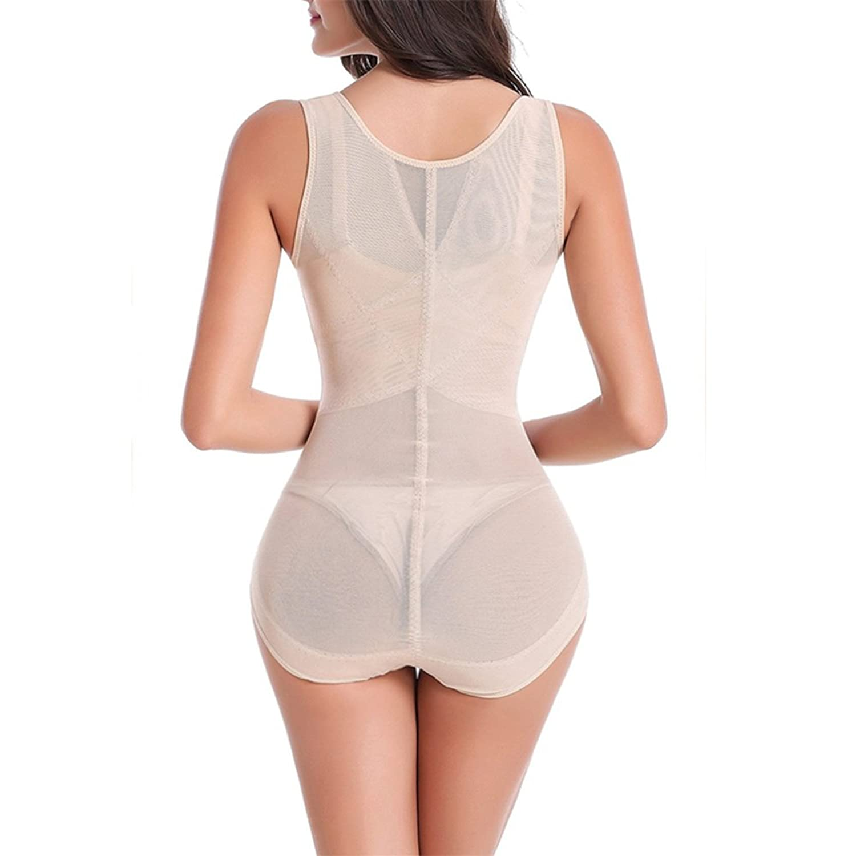 4cdf59a5c6baf Larry Marry Women Seamless Firm Control Shapewear Black Bust Bodysuit Body  Shaper at Amazon Women s Clothing store  Spandex Waist Trainer Belt ...