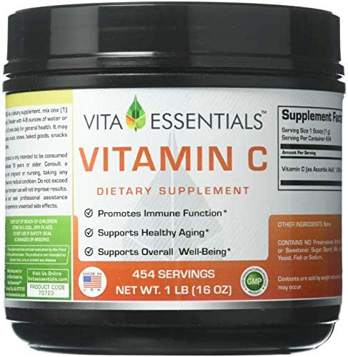 Vita Essentials Vitamin C Ascorbic Acid Powder, 1 Pound