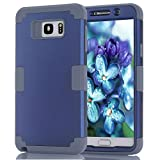 Office Products : Note 5 Case, Asstar Shockproof Anti Scratch Hybrid High Impact Hard PC Soft Silicon Rubber Armor Full Body Heavy Duty Protective Case for Samsung Galaxy Note 5 (Navy+Grey)