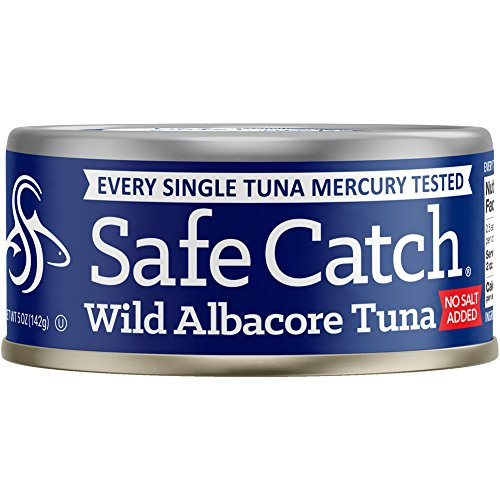Safe Catch Wild Albacore Tuna, No Salt Added, 12 Count The Only Brand To Test Every Fish for Mercury