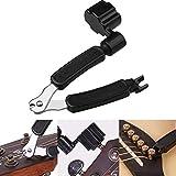 Hugesavings 3 IN 1 Guitar String Winder String Cutter Pin Puller Instrument Multifunctional Guitar Repair Tool