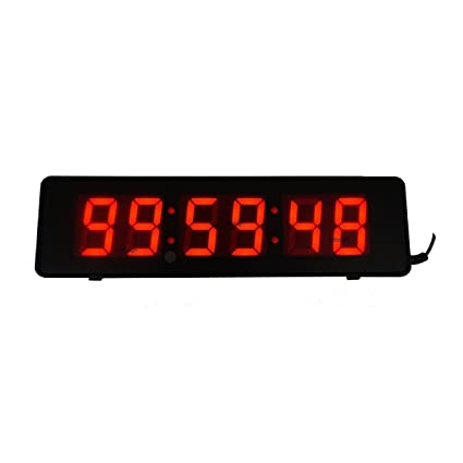 Amazoncom 2inch 6Digits Wall Clock LED Countdown Timer For Time