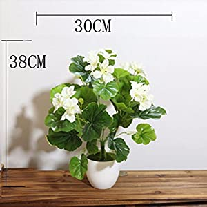 LighSCH Artificial Flowers Fake Bouquet Plastic Flower Fence Begonia White 29