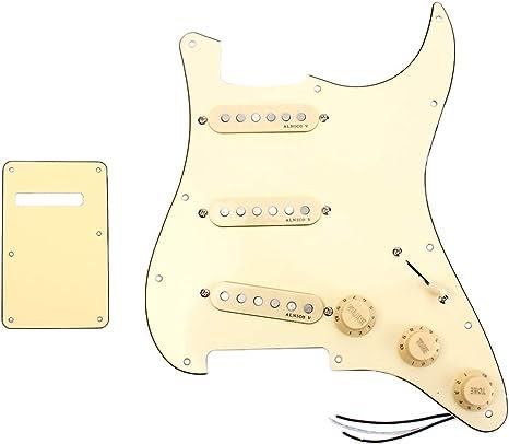 Almencla Guitarra Eléctrica Prewired Pickuguard Assembly Loaded ...