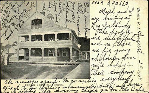Bristol Yacht Club House Bristol, Rhode Island Original Vintage Postcard
