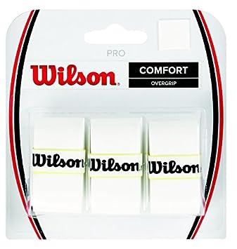 Wilson Pro Overgrip - Juego de 3 grips para raqueta de tenis blanco: Amazon.es: Deportes y aire libre