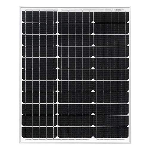 HQST 50 Watt 12 Volt Monocrystalline Solar Panel for RV/Boat/Other Off Grid Applications(50W Compact Design) by HQST (Image #1)
