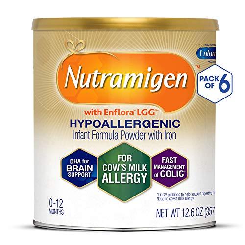 Enfamil Nutramigen Hypoallergenic Colic Baby Formula Lactose Free Milk Powder, 12.6 ounce (Pack of...