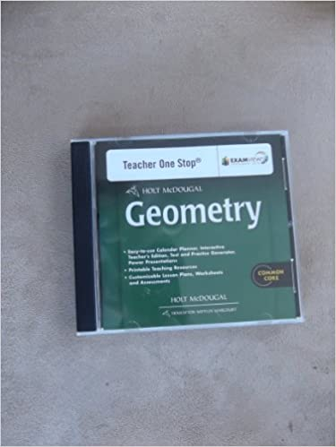 Amazon.com: Holt McDougal Geometry: Teacher's One Stop Planner DVD ...
