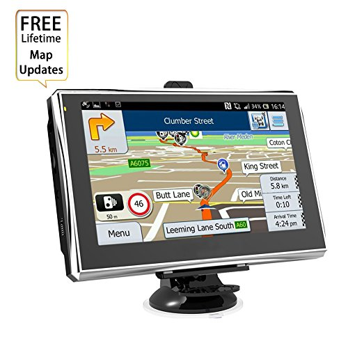 Samjat GPS Navigation for Car Truck Lorry 7 Inches 8GB Voice Reminding Vehicle GPS Navigator Capacitive Touchscreen with SAT NAV System Include AMERICA Latest Maps and Free Lifetime Updates