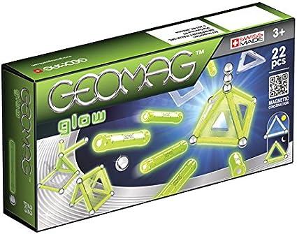 Geomag- Glow Construcciones magnéticas y juegos educativos, Multicolor, 22 piezas (334) , color/modelo surtido: Amazon.es: Juguetes y juegos