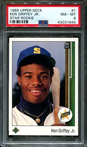 1989 Upper Deck #1 Ken Griffey Jr. Star Rookie RC PSA 8 Graded Baseball Card (1989 Upper Deck Ken Griffey Jr Rookie Card)