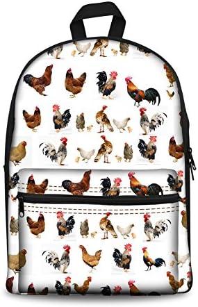 chicken school bag