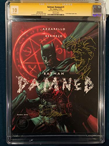 JIM LEE CGC 10 GEM MINT SIGNED ORIGINAL ART SKETCH BATMAN DAMNED 1 CBCS 9.8 Stan