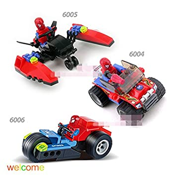 Amazon.com: 3 piezas/lot Kazi Spider Man, color rojo coche ...