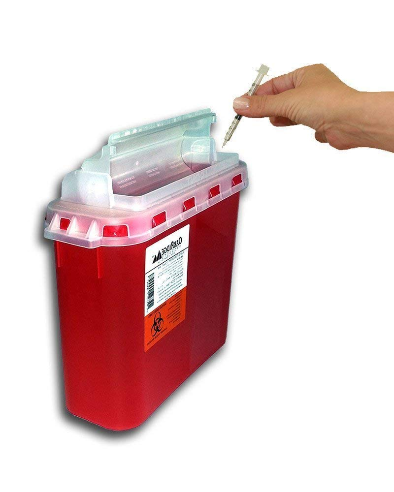 BD 5.4 Qt Stye Sharps Disposal Container (2 Pack) by Oakridge Products. Touchfree Rotating Lid: Industrial & Scientific