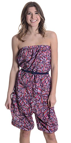 Marc by Marc Jacobs Women's Swim Arielle Bloom Romper in Blue Multi, Large by Marc by Marc Jacobs