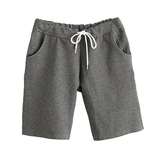 Shorts Shorts Donna Grigio Da GladiolusA Vita Scuro Sportivi Estate Casual In Elastico Comode Sciolto Pantaloncini Bermuda qqOYAvw