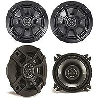 (2) KICKER 43CSC654 6.5 300w Car Audio Speakers+(2) 43CSC44 300w 4 Speakers