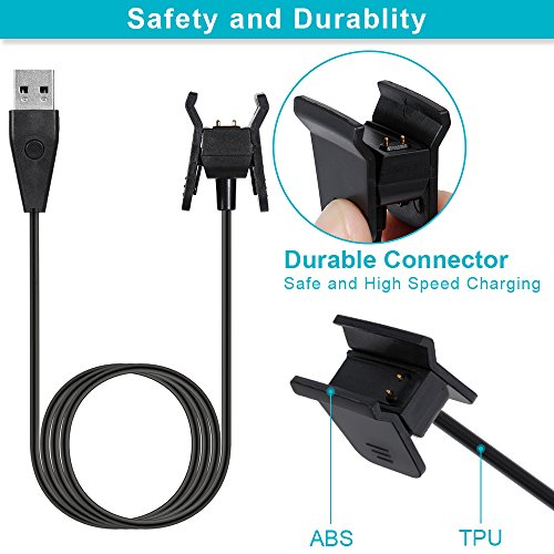 Rovtop 2 Pcs 100 cm Fitbit Alta HR Charger Replacement USB