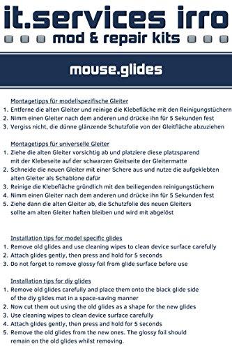 2 glides ratón / juegos de patines / Alfombrillas de ratón / adecuados para el ratón del PC Logitech G502 Proteus Core, Proteus Spectrum incl.