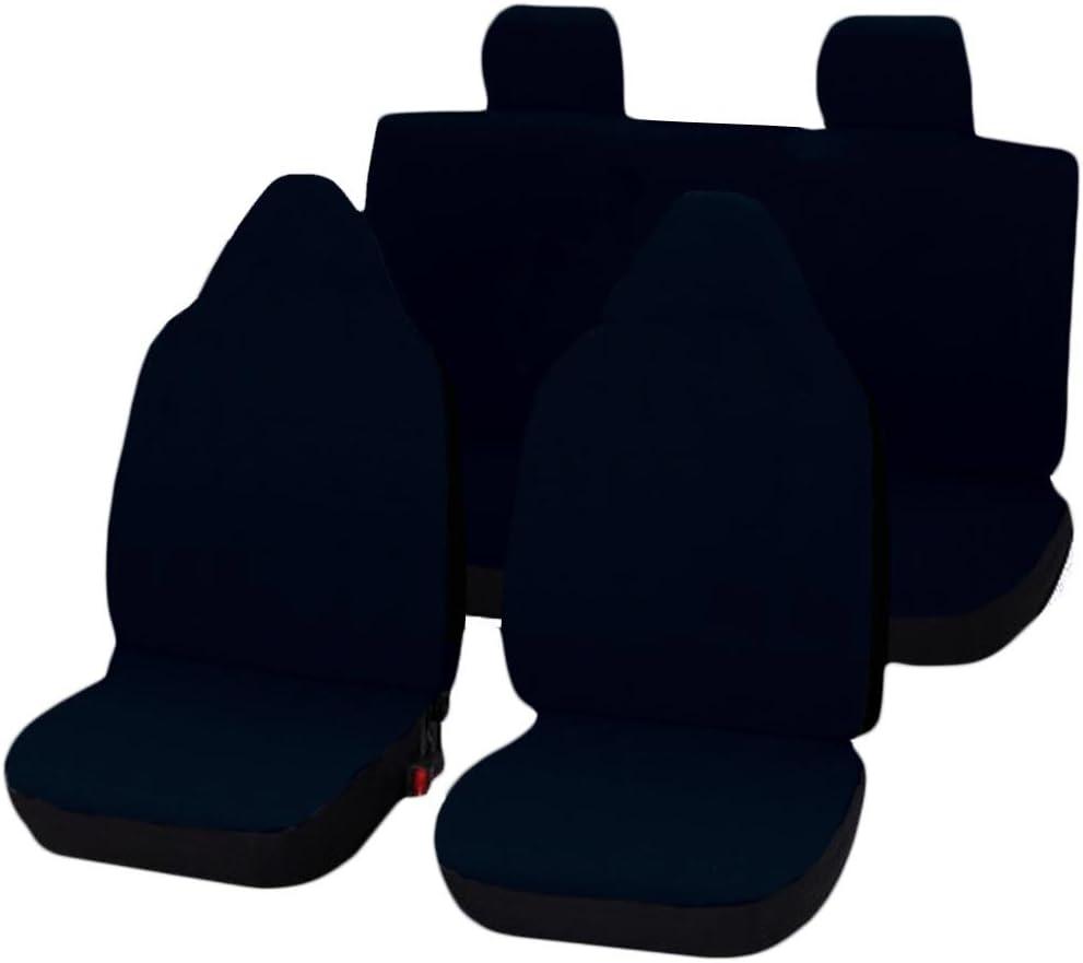 Bleu Lupex Shop C1/_BS Housses de si/ège Couleur Unie pour Citroen C1