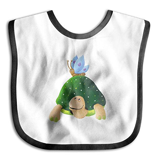 - MGDBB Baby Slobber Funny Butterfly On Turtle's Back Drool Bibs
