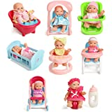 "Set Of 8 Assorted 5"" Mini Dolls, High..."