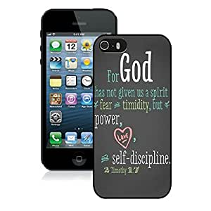 Classical Black Rubber Case for Iphone 5s Bible God Quote Apple Iphone 5 Silicone Cover