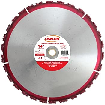 Image of Cut-Off Wheels Oshlun SBR-CH14 14-Inch Carbide Chunk Blade with 1-Inch Arbor for Rescue and Demolition
