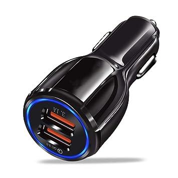 KMFKD Cargador USB para Coche Carga rápida 3.0 2.0 Cargador ...