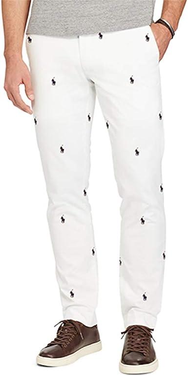 Polo Ralph Lauren para hombre Slim Fit Chinos - Blanco - 36W x 30L ...