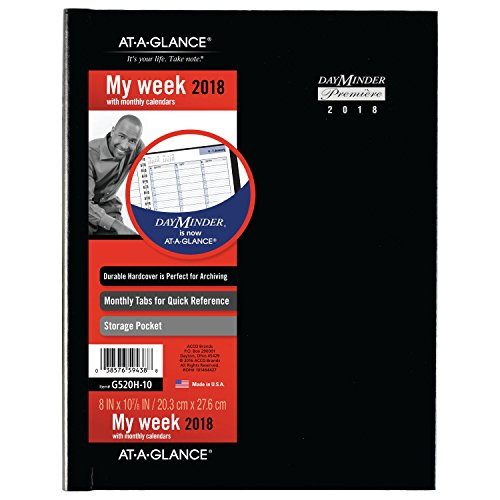 AT-A-GLANCE DayMinder Weekly Appt Book / Planner, January 2018 - December 2018, 8