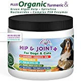 Glucosamine | Chondroitin | MSM + MUCH MORE for Dogs and Cats | 100% Natural and Organic Hip and Joint Supplement for Dogs and Cats of All Sizes and Ages | Made in the USA | 6 oz Powder