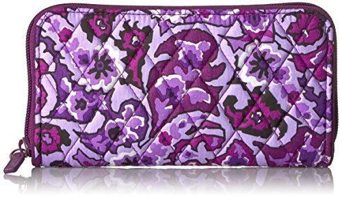 Vera Bradley Women's RFID Georgia Wallet-Signature, Lilac Paisley, One Size