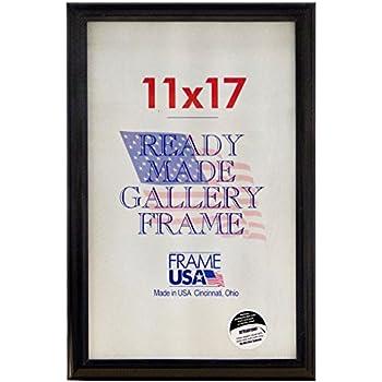 deluxe poster frame frames 11 x 17 black