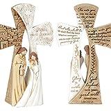 Luke 2:11-14 Holy Family Two-Sided 4 x 6.75 Resin Christmas Nativity Tabletop Figurine