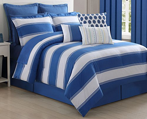 Fiesta 14831603CS Cabana Stripe Comforter Set, Queen - Luxury Cabana Sheet Sets
